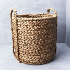 Large Waterhyacinth Basket with Plaited Handle l Pre Order