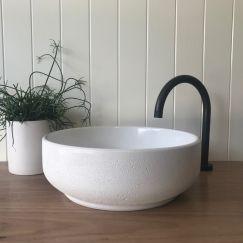 Lauren Round Basin by DLH Designs | Glacier