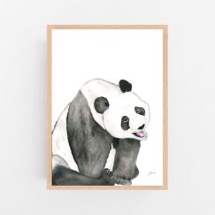 Layla the Panda Bear by Pick a Pear   Framed Wall Art