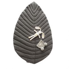 Leaf Cotton Play Mat | Grey