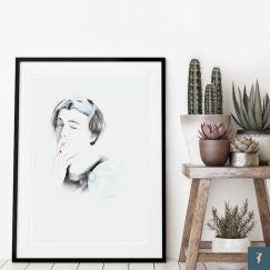 Leonardo DiCaprio | Romeo & Juliet by ANDLIZZY | Unframed Print