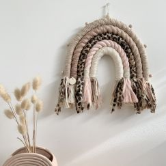 Leopard Whipray | Rope Rainbow Tassled Wallhanging