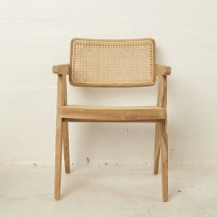 Leos Rattan Squared Off Chair l Custom Made