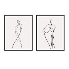 Line Girl | Framed Print Set | ArteFocus