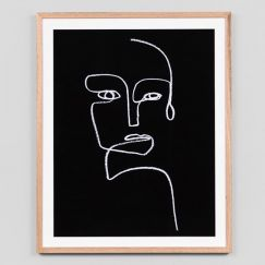 Line Portrait Night 1 | Framed Art Print