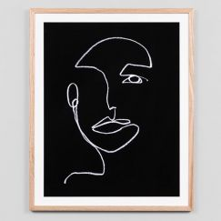 Line Portrait Night 2 | Framed Art Print