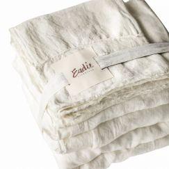 Linen Sheet Set   King Size   White