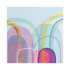 Little Hills in Blue I Limited Edition Unframed Print by Antoinette Ferwerda
