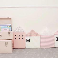 Little Lane Way | Set of Four | Pink & White