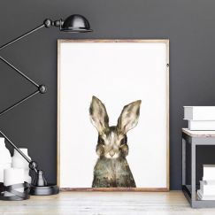 Little Rabbit by Amy Hamilton | Unframed Art Print