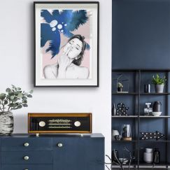 Lola Blue | Art Poster | Art by 4 The Love of Paris