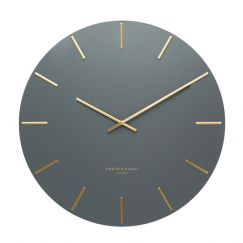 Luca Silent Wall Clock | 60cm | Charcoal