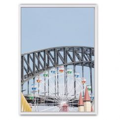 Luna Park Framed Canvas Print