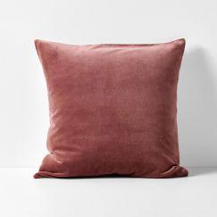 Luxury Velvet European Pillowcase | Mahogany by Aura Home
