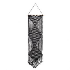 Macrame Wall Decor | Black