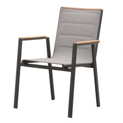 Madrid Dining Arm Chair | Charcoal