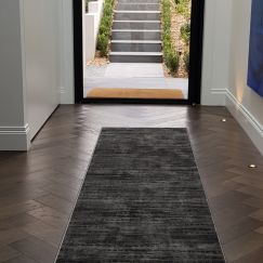 Madrid Dots Charcoal Hall Runner   Customized Length - Due back in stock Mid November 2020
