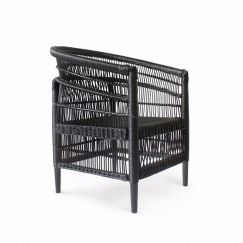 Malawi Club Chair | Black | by Black Mango