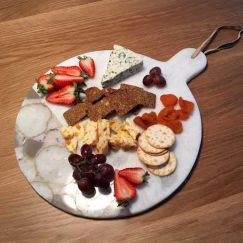 Marble Round Cheese Platter/Board by SATARA