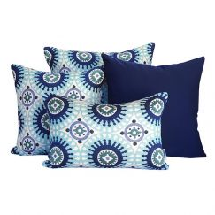Marrakesh Blue   Sunbrella Fade and Water Resistant Outdoor Cushion