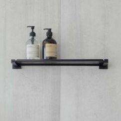 Matte Black Bathroom Shelf