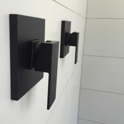 Matte Black Shower Mixer Tap