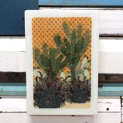 Maxi Woodblock | Prickle Patch | Wall Hanging