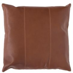 Maxine Leather Cushion | Tan | Feather Insert