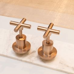 Meir Round Champagne Jumper Valve Wall Top Assembly Taps