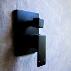 Meir Square Matte Black Diverter Mixer Tap