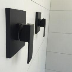 Meir Square Wall Mixer - Matte Black