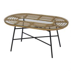 Menton Coffee Table with Glass Top