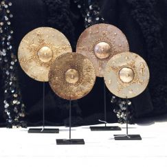 Metal Discs on Stand | by Raw Decor
