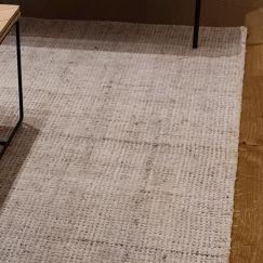 Miami Mini Weave Wool Rug | Light Grey