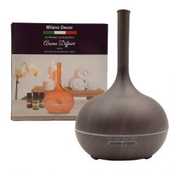 Milano Supreme Ultrasonic Aroma Diffuser w/3 Pack Oils - Dark Wood