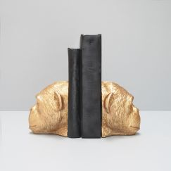 Monkey Bookends | Gold | White Moose