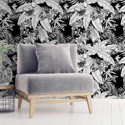 Monochrome Jungle Wallpaper