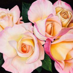 Morning Roses by Natasha Junmanee | Ltd. Edition Canvas Print | Art Lovers Australia