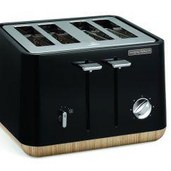 Morphy Richards Scandi  Aspect 4 Slice Toaster | Black