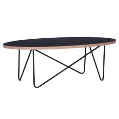 Naresh Coffee Table | Oval | Black
