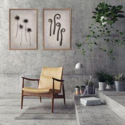 Nature Forms | Set of 2 Art prints | Framed or Unframed