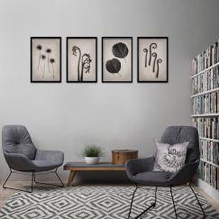 Nature Forms | Set of 4 Art prints | Framed or Unframed