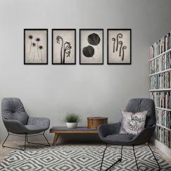 Nature Forms | Set of 4 Art prints | Unframed
