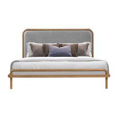 Norah Queen Bed | Oak | Light Grey