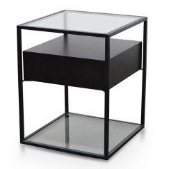 Norman Scandinavian Side Table | Full Black