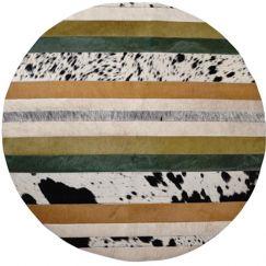 Nueva Raya Rug Circulo by Art Hide   Verde