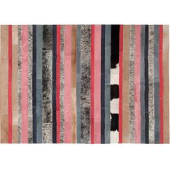 Nueva Raya Rug Rectangle by Art Hide | Peach
