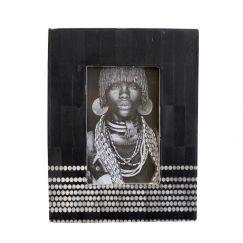 Nuru Photo Frame | Black | by Raw Decor