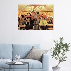 Old School Plane   Stretched Canvas or Printed Panel