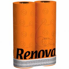ORANGE 3PLY  6roll Toilet Paper